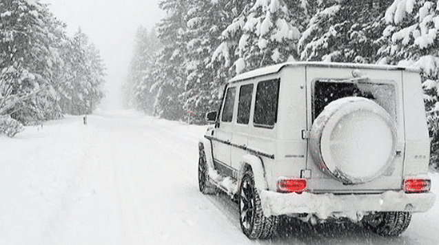 Mercedes G63 snow - It's Snowing: The Best Luxury 4x4s For Snow