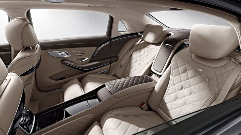 Mercedes s600 Maybach interior - Father's Day Car Hire