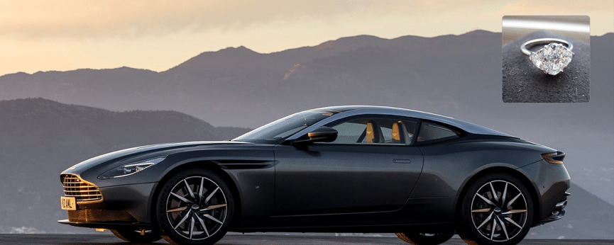aston martin db11 ring - Matching Your Girlfriend's Diamond Ring To Her Taste In Luxury Cars