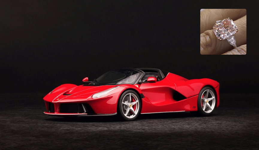 la ferrari ring - Matching Your Girlfriend's Diamond Ring To Her Taste In Luxury Cars