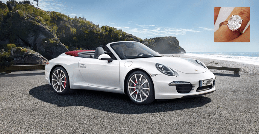 porsche cabriolet ring - Matching Your Girlfriend's Diamond Ring To Her Taste In Luxury Cars