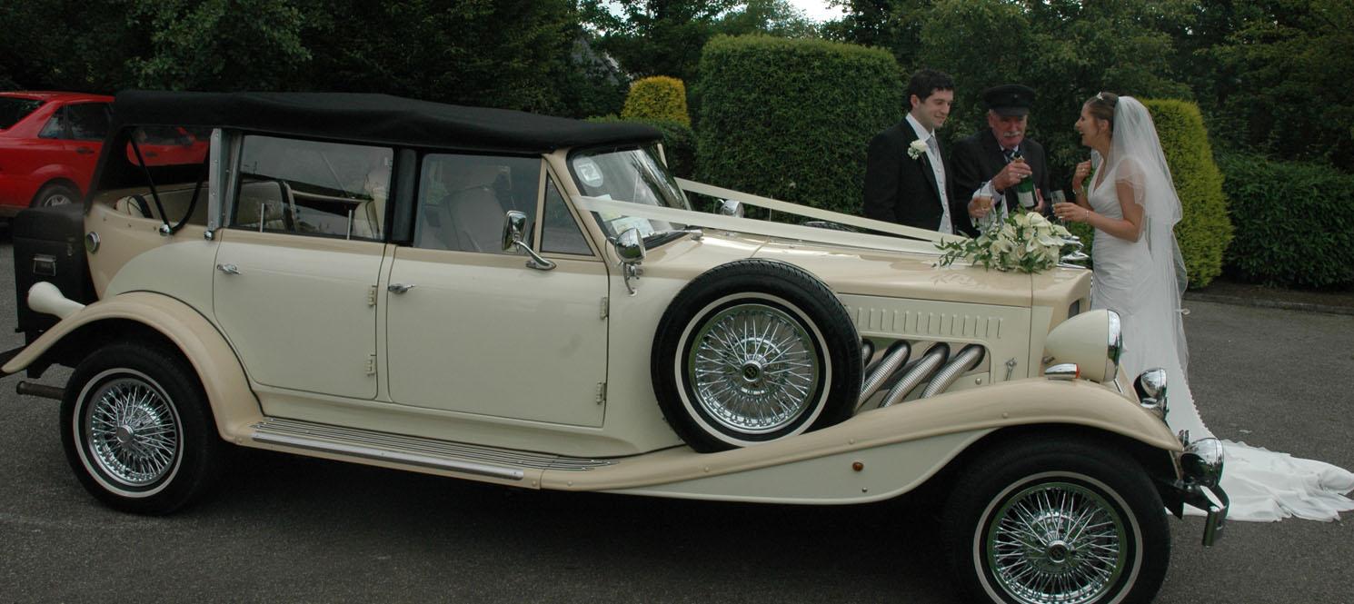 Ivory beauford wedding car hire