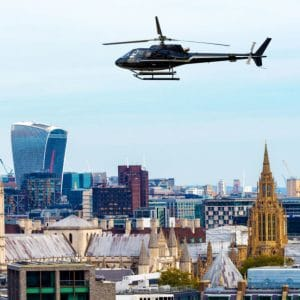 30-minute Helicopter Ride over London for Two with Jaguar XJ Chauffeur